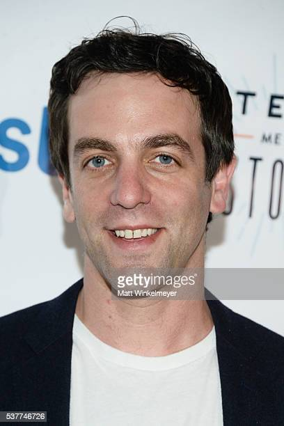 Actor/List cofounder BJ Novak arrives at 826LA's Tell Me A Story at The Wiltern on June 2 2016 in Los Angeles California