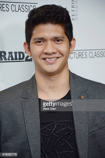 Actor/martial artist Iko Uwais arrives at Sony Pictures Classic The Raid 2 Los Angeles premiere at Harmony Gold Theatre on March 12 2014 in Los...