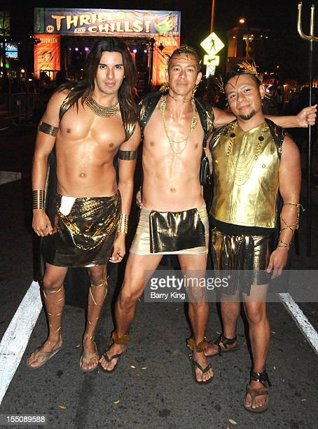 Actor/model Aaron Avila attends the 2012 West Hollywood Halloween Costume Carnaval on October 31 2012 in West Hollywood California