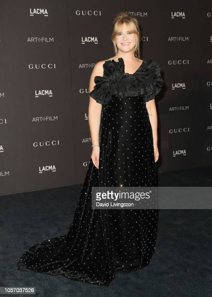 Actormodel Hari Nef wearing Gucci attends 2018 LACMA Art Film Gala honoring Catherine Opie and Guillermo del Toro presented by Gucci at LACMA on...