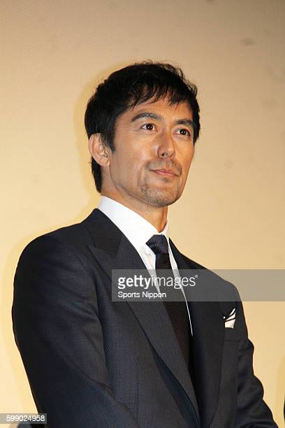 Actor/model Hiroshi Abe attends opening day stage greeting of the 'Everest The Summit of the Gods' on March 12 2016 in Tokyo Japan