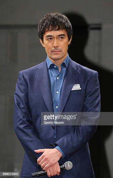 Actor/model Hiroshi Abe attends preview screening of the 'Everest: The Summit of the Gods' on March 1, 2016 in Tokyo, Japan.