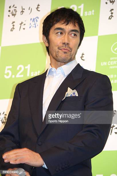 Actor/model Hiroshi Abe attends the 'After the Storm' Mother's day talk event on May 8, 2016 in Tokyo, Japan.