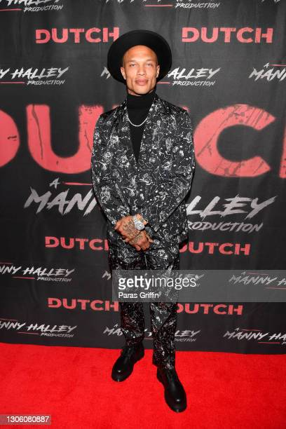 """Actor/model Jeremy Meeks attend the """"Dutch"""" Atlanta Premiere at AMC Phipps Plaza on March 08, 2021 in Atlanta, Georgia."""