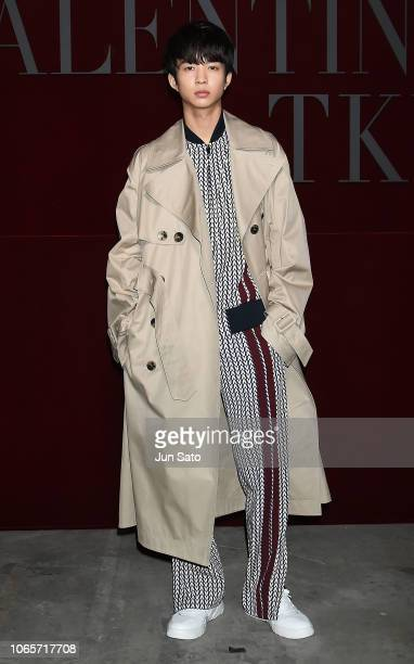 Actor/model Jin Suzuki attends the photocall for Valentino TKY 2019 Pre-Fall Collection at Terada Warehouse on November 27, 2018 in Tokyo, Japan.