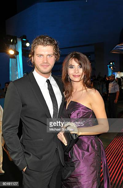 Actor/model Kivanc Tatlitug and model Songul Oden attend the opening night film Amelia at the Museum of Islamic Art during the 2009 Doha Tribeca Film...