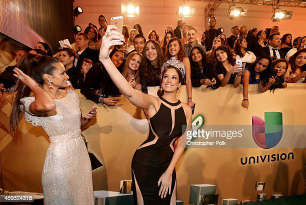 Actor/model Marisela and Actress/recording artist Aleyda Ortiz attend the 15th Annual Latin GRAMMY Awards at the MGM Grand Garden Arena on November...
