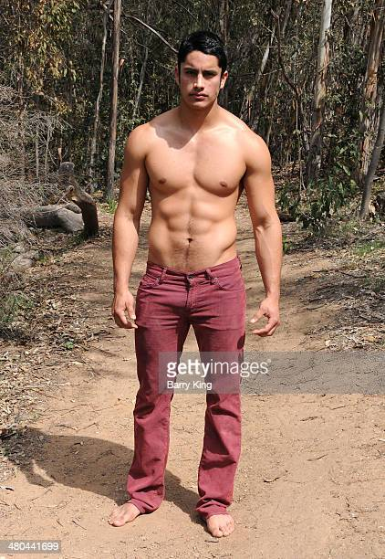 Actor/model Miguel Gil Montano poses during a photo shoot on March 24 2014 in Los Angeles California