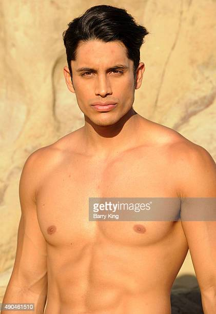 Actor/model Miguel Montano poses during a photo shoot on September 28 2015 in Malibu California