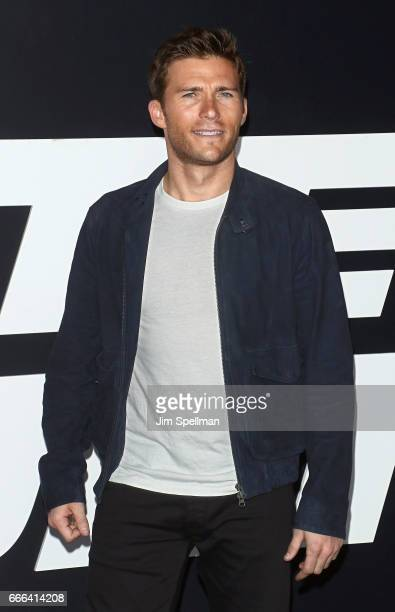 Actor/model Scott Eastwood attends 'The Fate Of The Furious' New York premiere at Radio City Music Hall on April 8 2017 in New York City