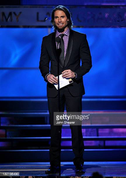 Actor/model Sebastian Rulli speaks onstage at the 12th Annual Latin GRAMMY Awards held at the Mandalay Bay Resort Casino on November 10 2011 in Las...