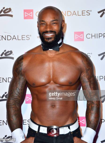 Actor/model Tyson Beckford arrives at the Rio Hotel Casino as he begins a celebrity guest host in residency with the Chippendales on April 7 2017 in...