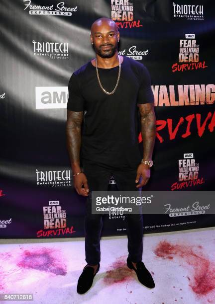 Actor/model Tyson Beckford attends the Fear the Walking Dead Survival attraction grand opening at the Fremont Street Experience on August 29, 2017 in...