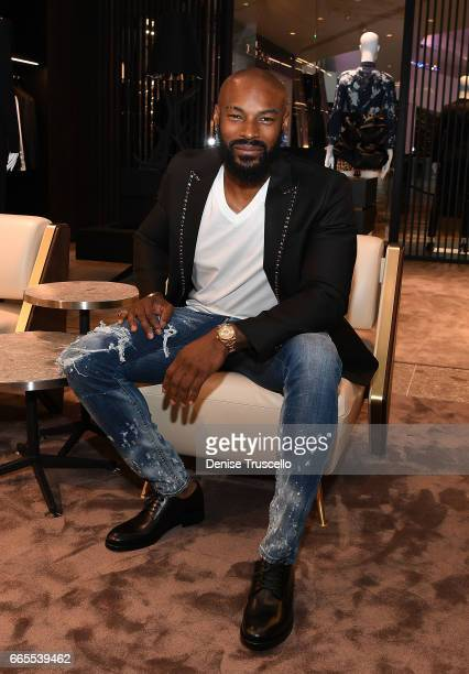 Actor/model Tyson Beckford attends the grand opening party for Dsquared2 at The Shops at Crystals on April 6 2017 in Las Vegas Nevada
