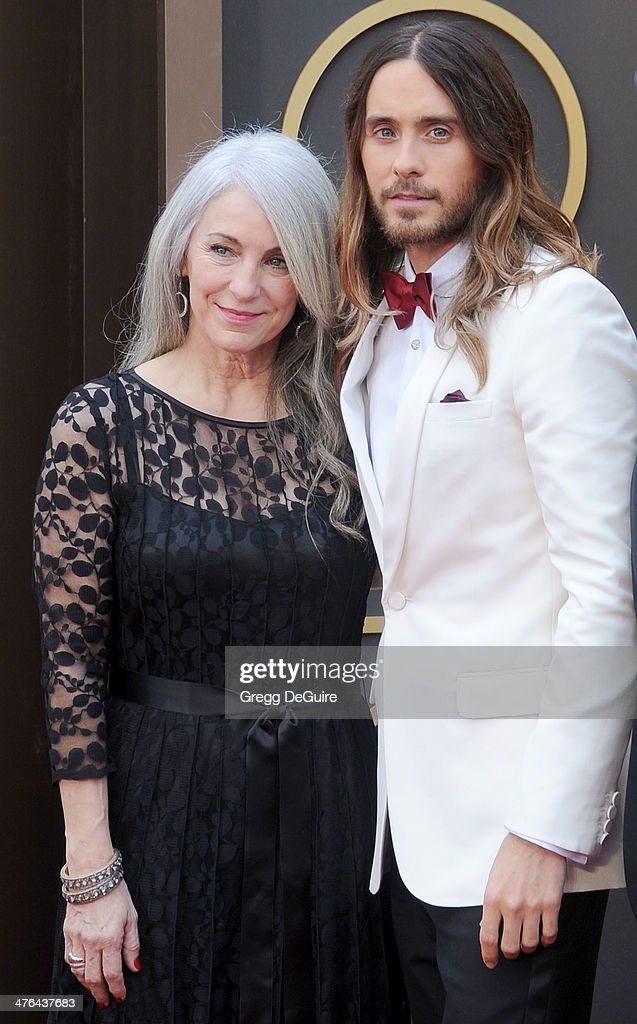 Actor/muscian Jared Leto and mom Constance Leto arrive at the 86th Annual Academy Awards at Hollywood & Highland Center on March 2, 2014 in Hollywood, California.