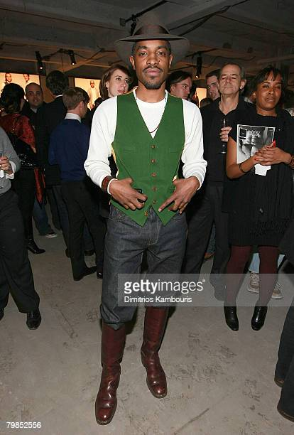 Actor/Musician Andre 3000 attends the Best New Menswear Designers in America Their Fall 2008 Collections presented by GQ CFDA at 620 Fifth Avenue on...