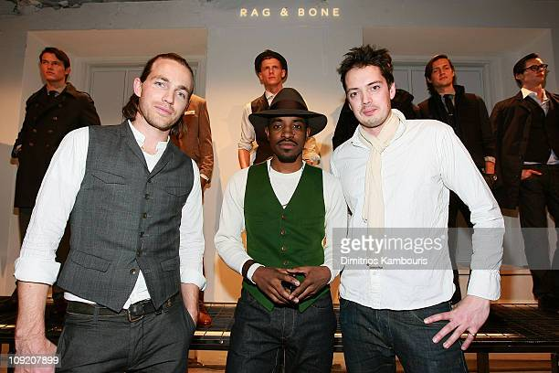Actor/musician Andre 3000 with designers David Neville and Marcus Wainwright of Rag and Bone the Best New Menswear Designers in America Their Fall...