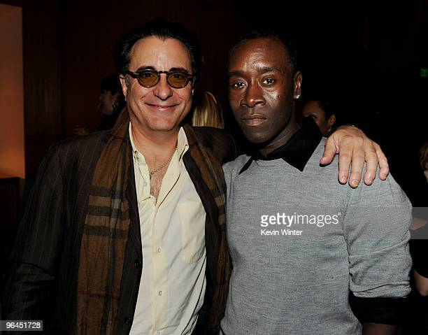 Actor/musician Andy Garcia and actor Don Cheadle pose backstage at Help Haiti with George Lopez Friends at LA Live's Nokia Theater on February 4 2010...