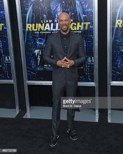 Actor/musician Common arrives for the Run All Night New York Premiere at AMC Lincoln Square Theater on March 9 2015 in New York City
