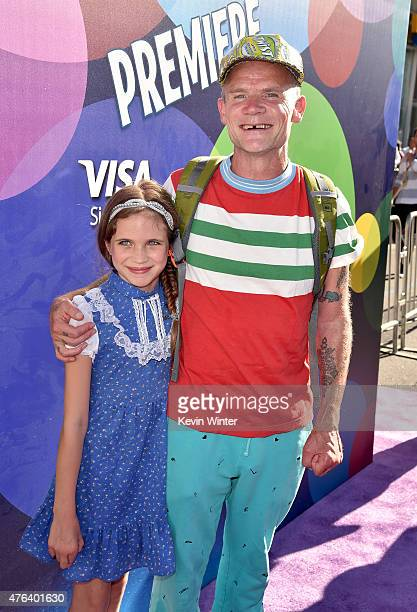 Actor/musician Flea and Sunny Bebop Balzary attends the Los Angeles premiere of DisneyPixar's Inside Out at the El Capitan Theatre on June 8 2015 in...