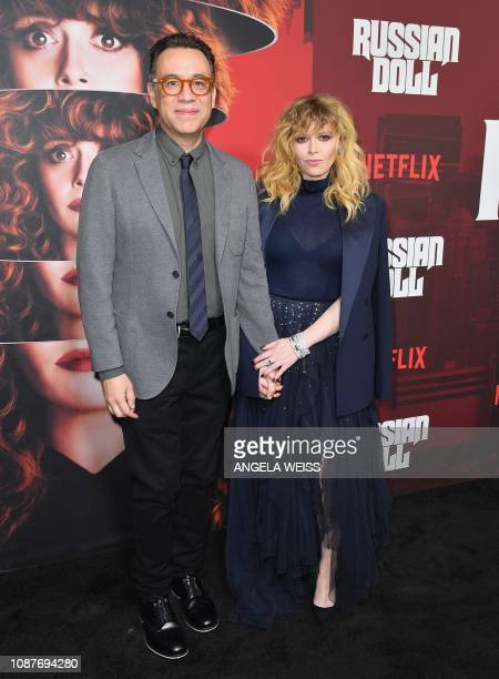 """Actor/musician Fred Armisen and actress Natasha Lyonne attend Netflix's """"Russian Doll"""" Season 1 premiere at Metrograph on January 23, 2019 in New..."""