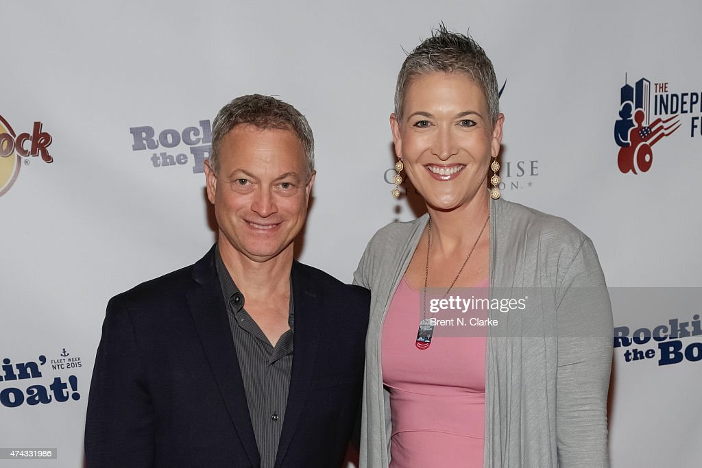 Actor/musician Gary Sinese (L) and television journalist Jennifer Griffin arrive for the Rock The Boat Fleet Week Kickoff Concert held at Hard Rock Cafe, Times Square on May 21, 2015 in New York City.