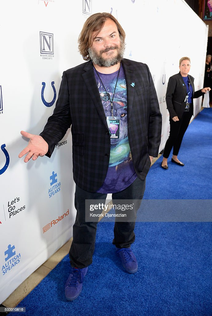 Actor/musician Jack Black attends the 4th Annual Light Up The Blues at the Pantages Theatre on May 21, 2016 in Hollywood, California.