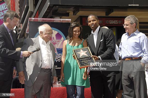 Actormusician Jamie Foxx his daughter Connie Universal's Ron Meyer Hollywood Chamber of Commerce President/CEO Leron Gubler and Honorary Mayor of...