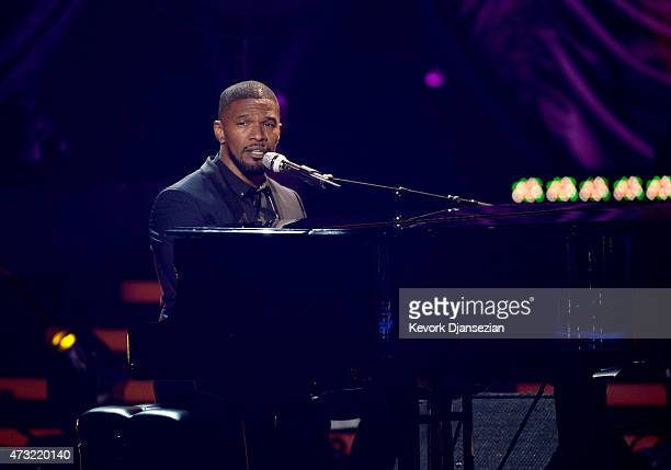Actor/musician Jamie Foxx performs onstage during 'American Idol' XIV Grand Finale at Dolby Theatre on May 13 2015 in Hollywood California
