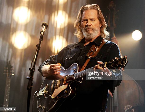 Actor/musician Jeff Bridges performs for AOL Sessions at AOL Studios on June 29 2011 in Beverly Hills California