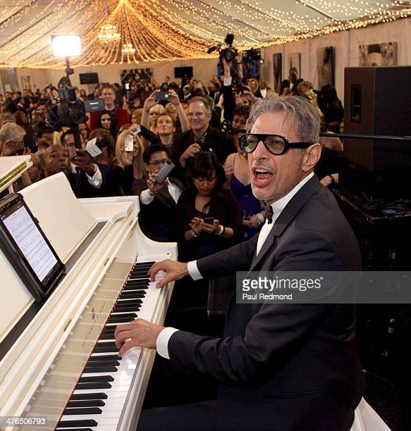 Actor/musician Jeff Goldblum attending the 15th Annual Academy Awards Viewing Party Benefiting Children Uniting Nations at Warner Bros Estate on...