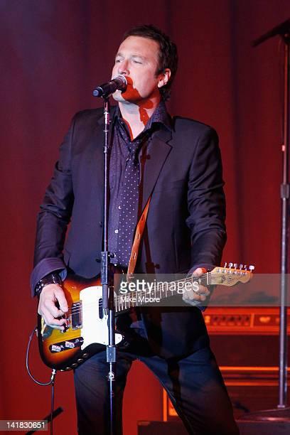Actor/musician John Corbett performs onstage during Muhammad Ali's Celebrity Fight Night XVIII held at JW Marriott Desert Ridge Resort & Spa on March...