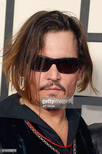 Actor/musician Johnny Depp of Hollywood Vampires attends The 58th GRAMMY Awards at Staples Center on February 15 2016 in Los Angeles California