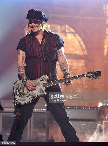 Actor/musician Johnny Depp of Hollywood Vampires onstage during The 58th GRAMMY Awards at Staples Center on February 15 2016 in Los Angeles California