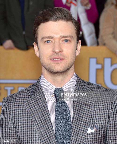 Actor/musician Justin Timberlake attends the 19th Annual Screen Actors Guild Awards at The Shrine Auditorium on January 27 2013 in Los Angeles...