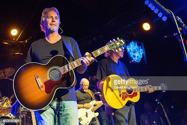Actor/musician Kevin Costner of Kevin Costner Modern West performs on stage at Belly Up Tavern on August 11 2015 in Solana Beach California