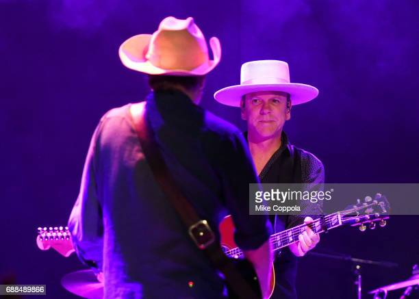 Actor/musician Kiefer Sutherland performs on his 'Not Enough Whiskey' Tour at Bowery Ballroom on May 25 2017 in New York City