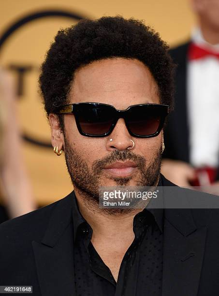 Actor/musician Lenny Kravitz attends the 21st Annual Screen Actors Guild Awards at The Shrine Auditorium on January 25 2015 in Los Angeles California