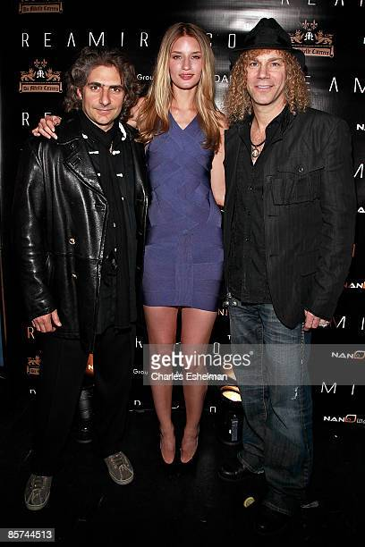 Actor/musician Michael Imperioli supermodel Linda Vojtova and musician David Bryan attend the REAMIR CO unveiling of their new Signature all natural...