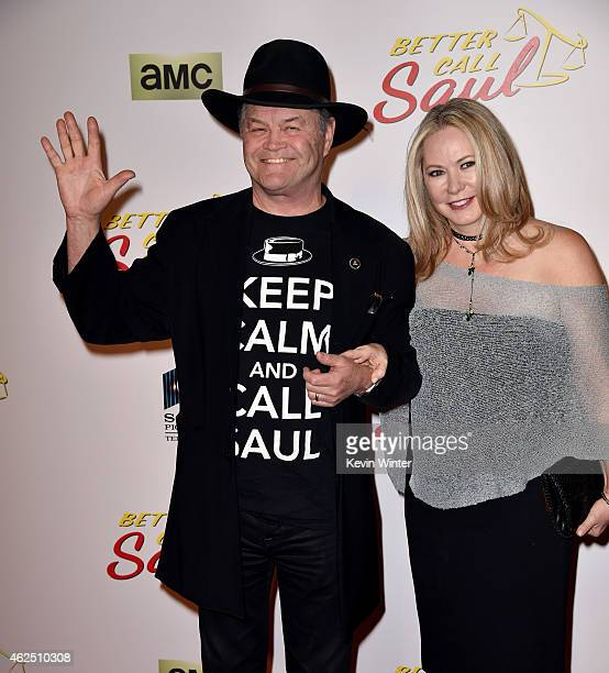 Actor/musician Mickey Dolenz and Donna Quinter arrive at the series premiere of AMC's Better Call Saul at the Regal Cinemas LA Live on January 29...