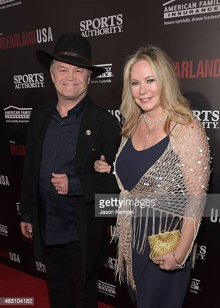 Actor/Musician Mickey Dolenz and wife Donna Quinter attend the premiere of Disney's McFarland USA at the El Capitan Theatre on February 9 2015 in...