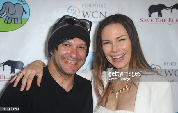 Actor/musician Neil D'Monte and actress Jon Mack attend the Celebration for World Elephant Day Hosted By Elephants In My Backyard held at Trunk Club...