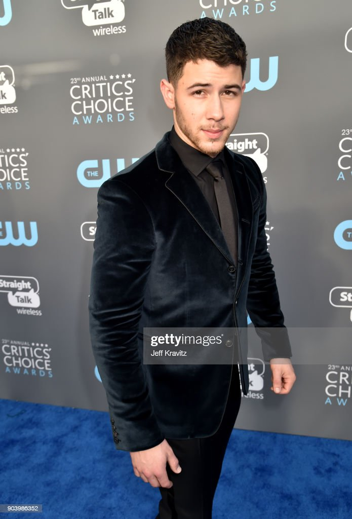 Actor/musician Nick Jonas attends The 23rd Annual Critics' Choice Awards at Barker Hangar on January 11, 2018 in Santa Monica, California.