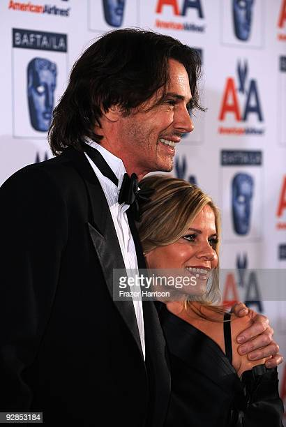 Actor/musician Rick Springfield and Barbara Porter arrives at the 8th Annual British Academy Of Film And Television Arts Britannia Awards at the...