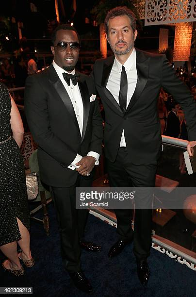 Actor/musician Sean Combs and music executive Guy Oseary attend The Weinstein Company Netflix's 2014 Golden Globes After Party presented by...