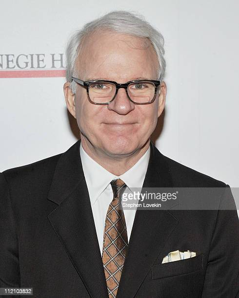 Actor/musician Steve Martin attends the after party for the 120th Anniversary of Carnegie Hall at The Museum of Modern Art on April 12 2011 in New...