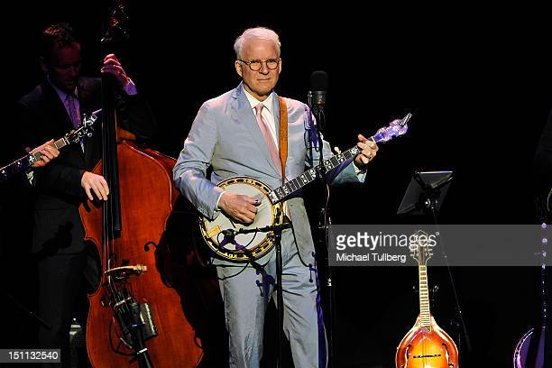 Actor/musician Steve Martin performs live with the bluegrass band the Steep Canyon Rangers at the Pantages Theatre on September 1 2012 in Hollywood...