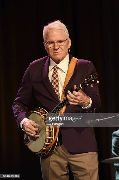 Actor/musician Steve Martin performs with Steep Canyon Rangers at Weill Hall Sonoma State University's Green Music Center on August 20 2015 in...