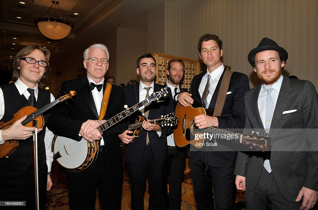 Actor/Musician Steve Martin (second from left) with the band Steep Canyon Rangers attend Muhammad Ali's Celebrity Fight Night XIX at JW Marriott Desert Ridge Resort & Spa on March 23, 2013 in Phoenix, Arizona.