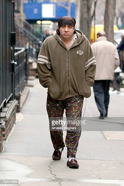 Actor/musician Steve Van Zandt walks around midtown Manhattan February 27 2007 in New York City